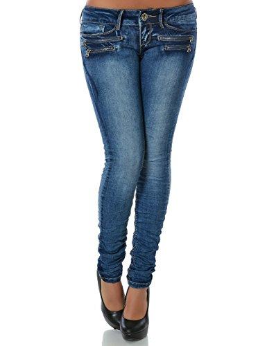 DaleusDamen Jeans Hose Skinny (Röhre weitere Farben) No 14089 , Blau , 38