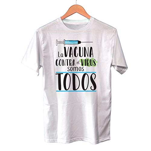 Muy Chulo Camiseta La Vacuna contra el Virus Somos Todos (S)