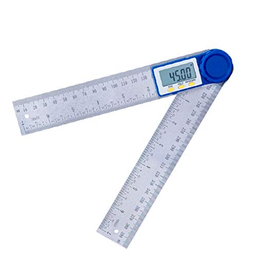 Zhoujinf-Universal High Precision Digital Display Winkelmesser Multifunktionale Holzbearbeitungswerkzeug Messgerät 360 ° Messwinkel Lineal