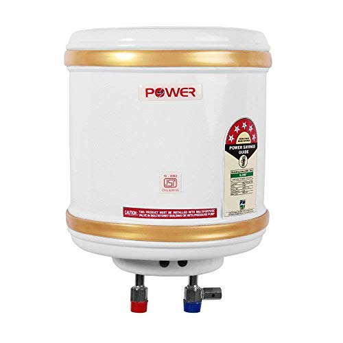POWER PYE ELECTRONICS 500 W Solar/Battery/Inverter Water Heater Geyser (10 L, White)