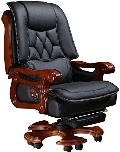 XIUYU Sedia da Ufficio Affari Home Office Chair Computer Sedia reclinabile sedie di Cuoio di Sedia Girevole (Colore: Nero, Dimensione: 74x57x121cm) (Color : Black, Size : 74x57x121cm)