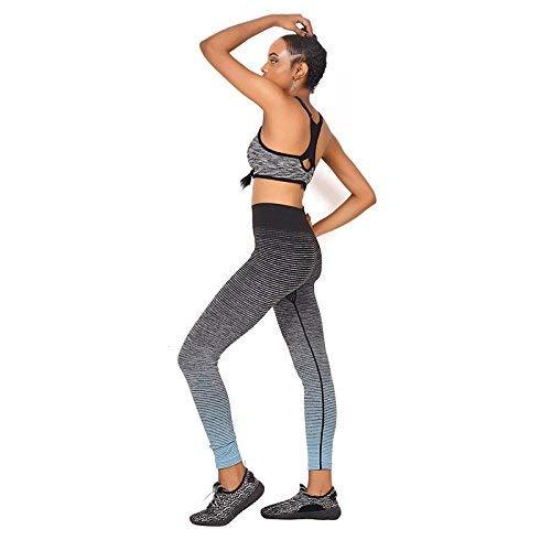 Battercake Mujer Fitness Leggings Gradient Ramp Lady Casuales Mujeres Alto De Talle Estirado Pantalones De Entrenamiento Delgado De Moda (Color : Azul Claro, Size : XL)