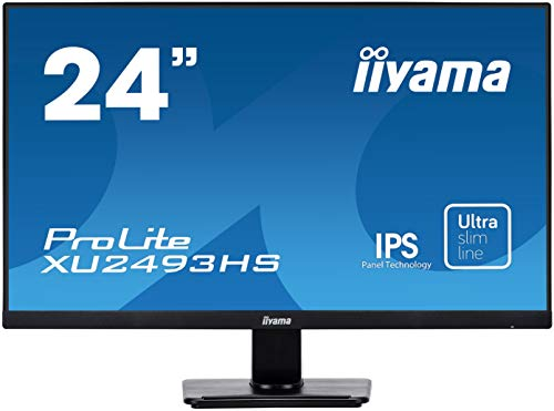 Iiyama iiyama Prolite XU2493HS-B1 60,47cm (23,8 Zoll) IPS LED-Monitor Full-HD (VGA, HDMI, DisplayPort, Ultra-Slim-Line) Schwarz