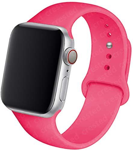 Correa de silicona para Apple Watch Band 44mm 40mm 38mm 42mm Pulsera de goma Pulsera de cinturón deportivo para IWatch Serie 5 4 3 Se 6 Band