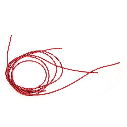 HEEPDD Material de Costura, Material de Bordado Bordado a Mano de Cobre Liso Redondo Alambre metálico Fino para Hacer Cuentas de Bordado Fabricación de Joyas(Rojo)