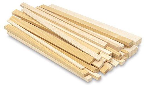 Balsaholz-Stäbe, -Leisten für Modellbau, 450mm Länge, Stärke 3,2mm x 3,2mm, 5Stück