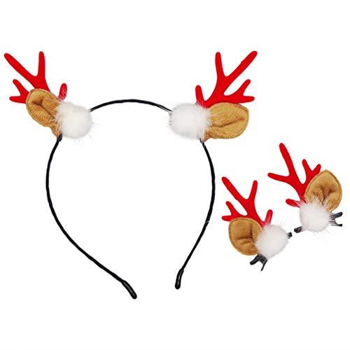 Lurrose 3 stuks gewei partij hoofdband hert hoorn hoofdtooi partij kostuum hoofddeksel met haarspelden