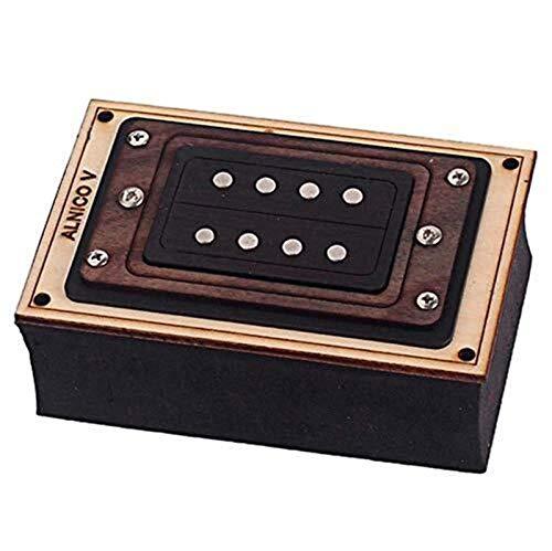 Alnico 5 Humbucker Set de ramassage for 4 Cordes boîte à cigares Pièces Détachées Guitare