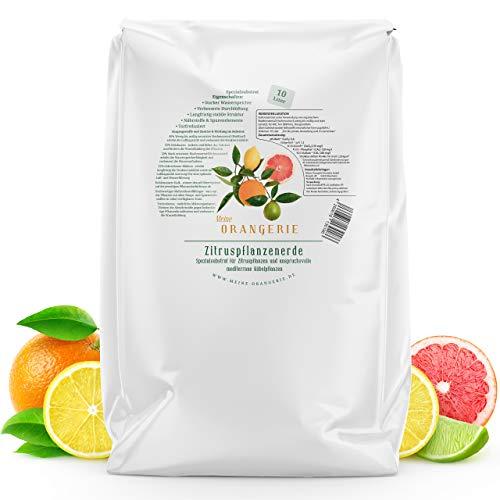Meine Orangerie Zitruserde und mediterrane Pflanzenerde [10l] - Spezial-Zitronenerde mit Zitrusdünger - Pflanzerde für anspruchvolle mediterrane Kübelpflanzen wie Olivenbaum, Oleander, Avocado Erde