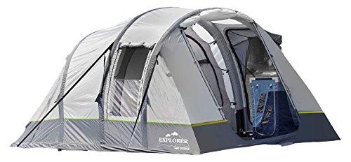 Explorer Alegra Air opblaasbare familietent 420x260x185 cm (5,2 m2) 4 personen 3000 mm waterkolom gedeelde woonruimte binnentent weerbestendige ingang camping outdoor wandelen familie