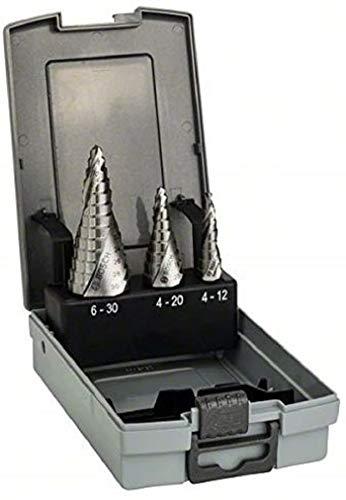 Bosch Professional 3tlg. Stufenbohrer-Set HSS mit 3-Flächen-Schaft