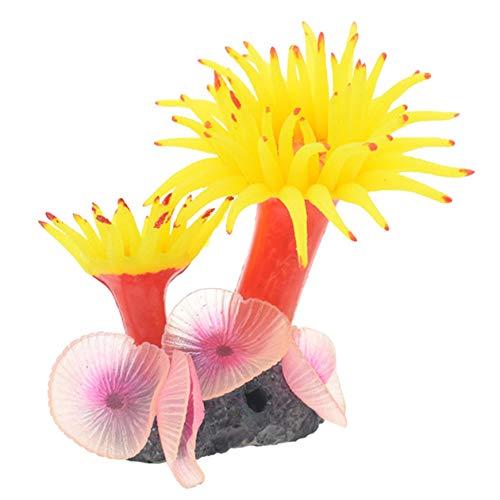 TXSD Artificial Coral Plant Decor Ornament Artificial Silicone Coral for Fish Tank Aquarium Ornaments
