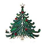 La Pintura Verde Colorido Broches Árbol De Navidad para Mujeres Mochila Casual Suéter Partido De...
