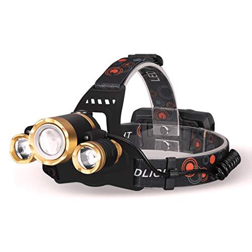 MonH Led-koplamp, oplaadbare koplamp met rood veiligheidslicht, waterdichte koplamp voor kamperen, fietsen, klimmen, wandelen, vissen, nachtleesje