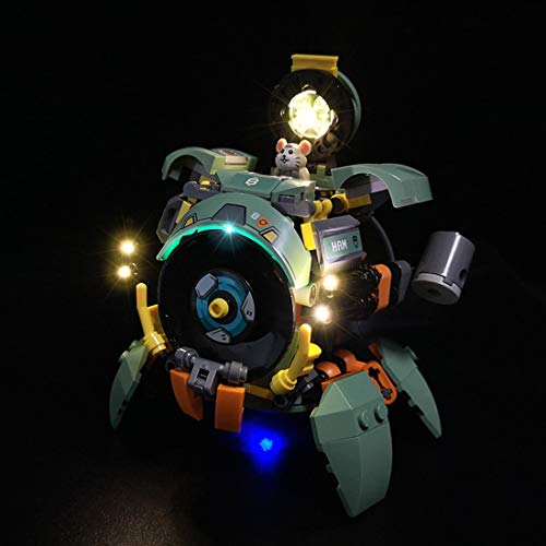 PeleusTech USB Powered LED Lighting Kit for Lego Overwatch Wrecking Ball 75976 - (LED Included Only, No Lego Kit)