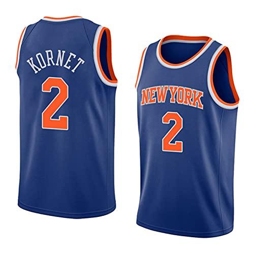FHXY Knicks Knicks # 2 Jersey de Baloncesto, Camiseta de algodón de Malla Bordada, Retro Fresco y Tela Transpirable Jersey All-Star XXL