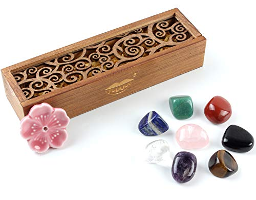 Vuuuuv Chakra Stones Set -Reiki Healing Crystals For Healing, Meditation, Chakra Balance Or Ritual (8 Pcs Set)