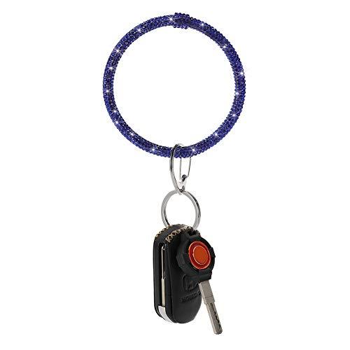 Artscope Armband Schlüsselbund Funkelnde Strass Armband Schlüsselring Armreif Schlüsselhalter für Damen Mädchen (B - Dunkelblau)