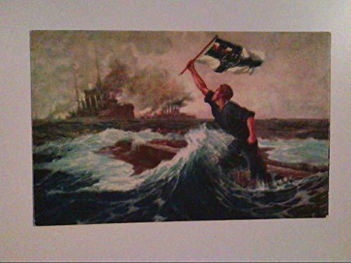 Der letzte Mann. Seeschlacht Falklandsinseln. Nach Gemälde v. Hans Bohrdt. AK.
