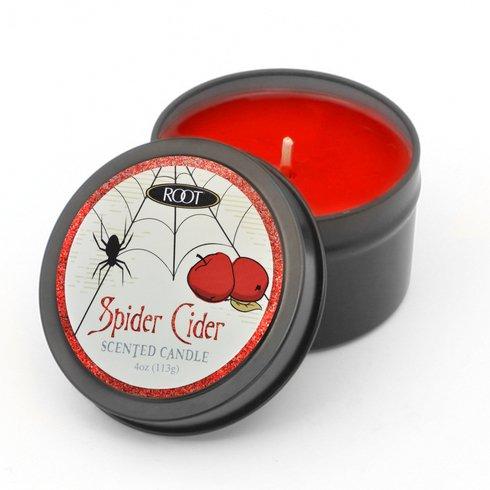 Root Kerzen Spider Cider Bienenwachs Halloween Kerze in einer Dose