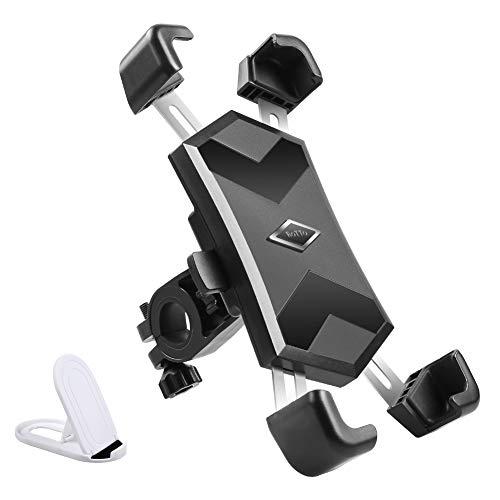 ROTTO Fahrrad Handyhalterung Motorrad Handyhalter mit Metall Edelstahl Teleskoparm Schnellverriegelungs und Entriegelungsknopf