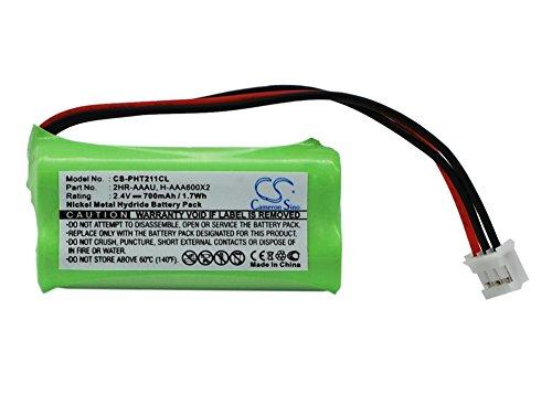 Batería Compatible con Philips Kala 300 Ni-MH 2.4V 700mAh - 2HR-AAAU, H-AAA600X2