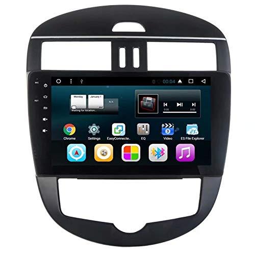 TOPNAVI pour Nissan Tiida H 2011 2012 2013 2014 2015 Anroid 7.1 Radio stéréo de Voiture avec Navigation GPS WiFi 3G RDS Lien Miroir FM AM BT Audio Vidéo