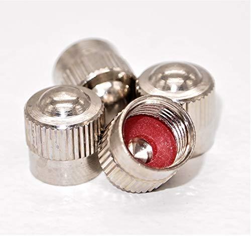 4er-Set Metall-Ventilkappen für Auto Motorad Fahrrad Roller und Kinderwagen Radventilkappen Reifenventilkappen Ventildeckel Autoventilkappen car Valve caps