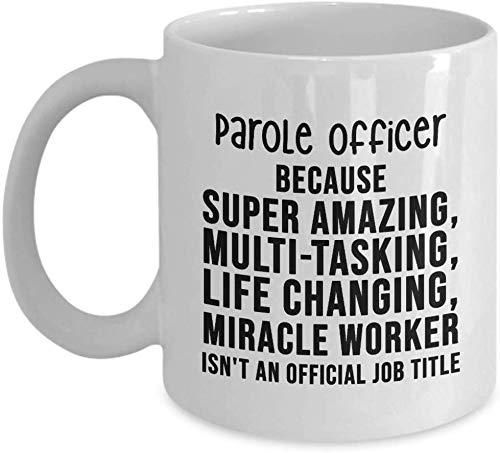 Bewährungshelfer Kaffee-Haferl - ist nicht eine offizielle Berufsbezeichnung - einzigartige Geschenkidee Geburtstagsgeschenk Neuheit Kaffeetasse für Männer Frauen Dankeschön Wertschätzung
