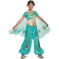 Disney Princess Jasmine Aladdin Deluxe Girls Costume (Teal)