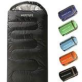 Envelope Camping Sleeping Bag 3-4 Seasons (Dark Grey/Left Zip)