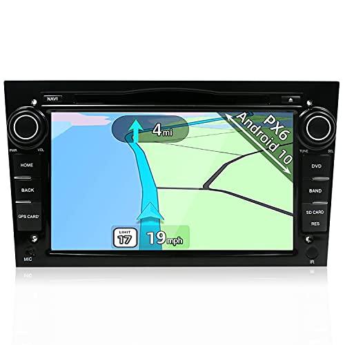 YUNTX PX6 Android 10 Autoradio fit pour Opel Astra/Meriva/Corsa/Zafira - 4G+64G - GPS 2 Din - Caméra arrière Gratuite - Soutien DAB / Commande au Volant / WiFi / Bluetooth / Mirrorlink / Carplay / 4K
