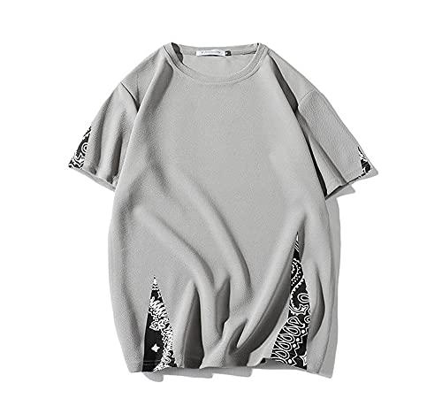 Camiseta Hombre Casual Transpirable Sport Versión Suelta Hombre Cuello Redondo Manga Corta Verano Moda Urbana...