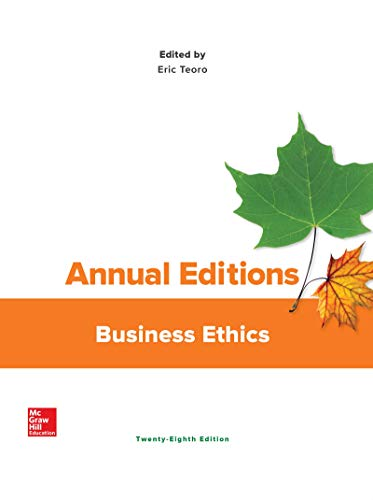 Compare Textbook Prices for Annual Editions: Business Ethics 28 Edition ISBN 9781259883255 by Teoro, Eric