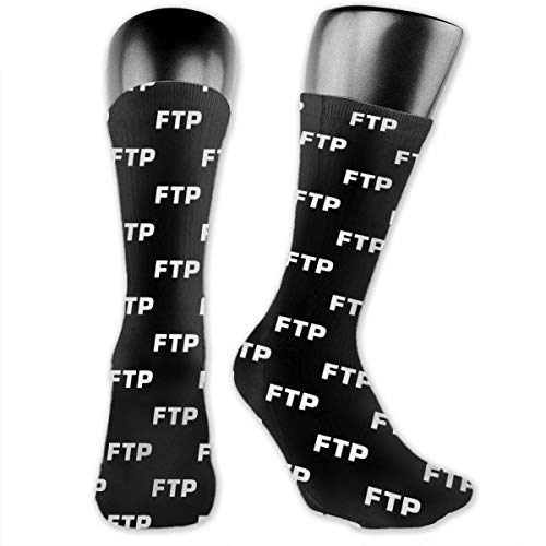 Ftp Unisex Fun Novelty Mid-Calf Boot Socks Fashion Breathable Dress Crew Socks