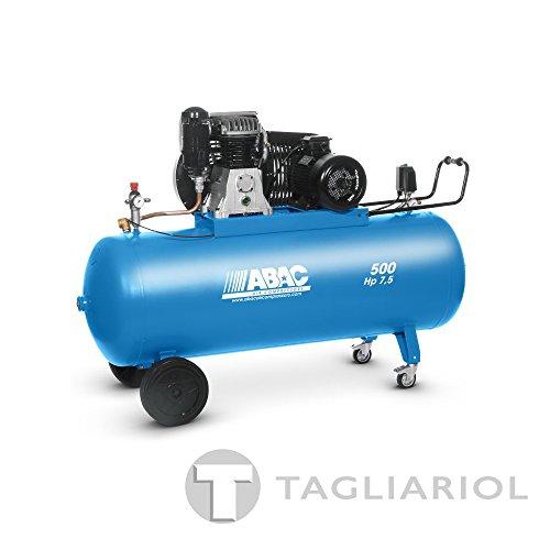 ABAC PRO B6000 500 CT7,5 COMPRESSORE 500L MOTORE TRIFASE 7,5HP CON TRASMISSIONE A CINGHIA BISTADIO