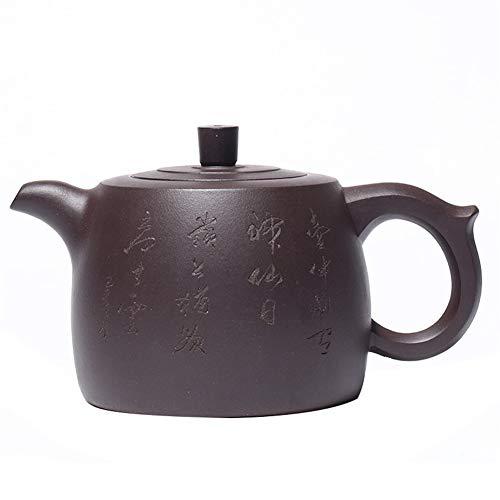LPLHJD Teapot Teiera Famoso a Mano Minerale Vecchio Viola Argilla Teapot Curb Messa Paesaggio (Color : Old Purple Mud)