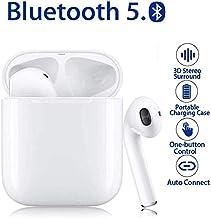 Auriculares Bluetooth5.0 inalámbrico,micrófono y Caja de Carga incorporados, Control Tactil, reducción del Ruido estéreo 3D HD,para Apple /AirPod/iPhone/Android/Samsung