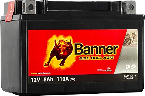 Banner Bike Bull - Batterie moto AGM PRO 8Ah 110A