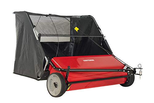 CRAFTSMAN CMXGZBF7124266 42 22-cu ft Hi-Speed Tow Lawn Sweeper, Red