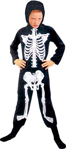 Ciao kostuum Scheletro Tg.L () kinderen unisex skelet 5-7 anni Zwart/Wit