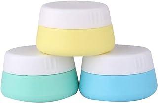 Minkissy Vasetti di Crema da Viaggio in Silicone da 3 Pezzi Vasetti di Cosmetici per Lozione da Toeletta per Lo Shampoo pe...