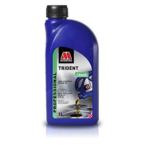 Millers Oils Trident 10w40 A3/B4 semi-synthetische motorolie, 1 liter