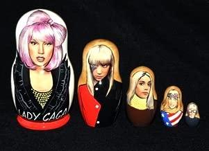 Lady Gaga, 5 pc Matryoshka, Nesting Doll