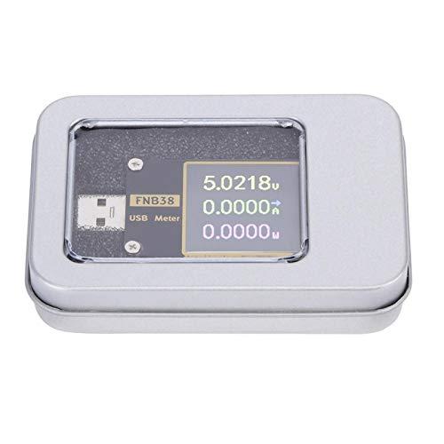 Jeanoko USB-Stromspannungsmesser Spannung Stromspannungsmesser TFT USB-Voltmeter-Amperemeter für Notebooks für Ladegeräte
