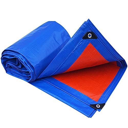 LXX wasserdichte Hochleistungs-Planen-Sonnenschirme, Mehrzweck-Plane mit Metallösen, reißfest und UV-beständiger Schutzschutz für Autos Boote Camper-Blau 3x4m