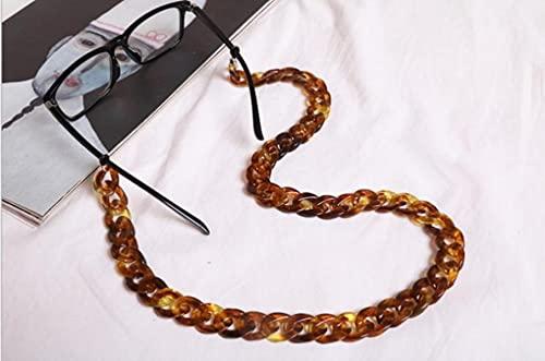 Nueva cadena de gafas de acrílico ámbar ancha para mujer, gafas de lectura, cadena para el cuello...