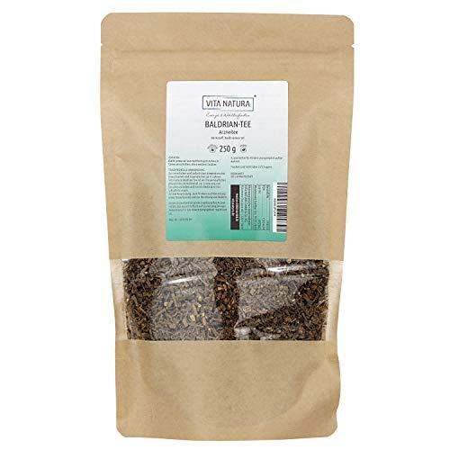 Vita Natura Baldrianwurzel Tee, Beruhigungs-Tee, 1er Pack (1 x 250 g)