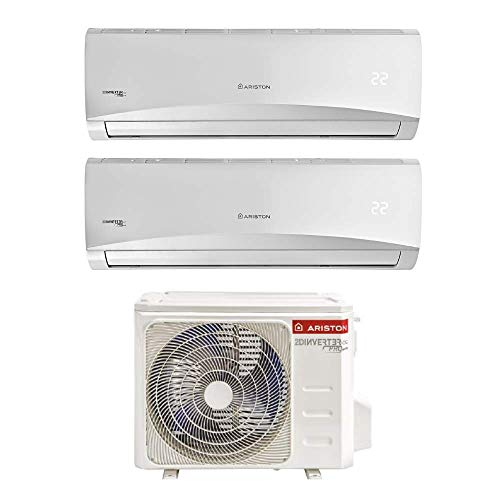 Ariston Prios 9+12 Climatizzatore Fisso Dual Split WI-FI Ready [Classe di efficienza energetica A++] [Classe di efficienza energetica A++]