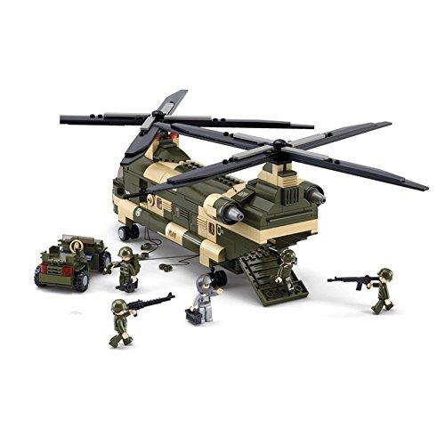 Sluban M38-B0508 Transport Helicopter Building Block Toy 513 Pieces Set